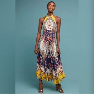 Anthropologie Maeve Myriam Maxi Dress